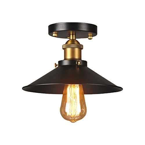 Loft Industrial Focos De Techo Edison Semi Flush Mount
