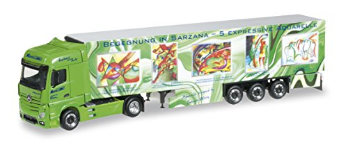 Herpa - 304 276 - Mercedes-Benz - Actros GigaSpace Semirimorchi con le scatole Coolers - Art Wirtz Camion