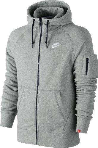 Nike Herren Jacke AW77 French Terry Hoody, Grau, XL, 545261-063 (Flat Herren Tech Nike)