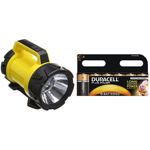 Price comparison product image AA Heavy Duty LED Torch and Duracell MN1400 Plus Power C Size Batteries--Pack of 6