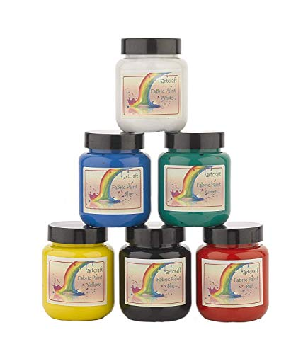Artcraft Premium Bright Fabric Paints 6 x 60ml Different Colours Available