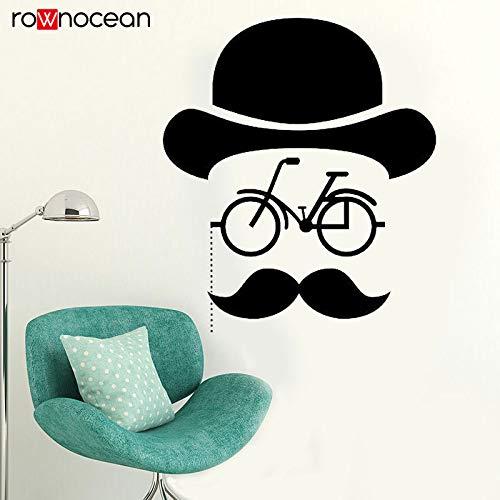woyaofal Hipster Bicycle Mustache Wall Decal Sticker Dormitorio Diseño Mural Diseño Interior...