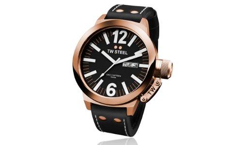TW Steel CEO TWCE1021 - Reloj unisex de cuarzo, correa de piel color negro