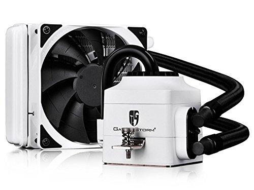 DeepCool Captain 120EX Dissipatore Liquido CPU Cooler AIO Silenzioso di Alte Prestazioni con Pompa LED Bianco, 120mm PWM Ventola (AM4 Compatibile, Adattatore Incluso), Garanzia di 3 Anni