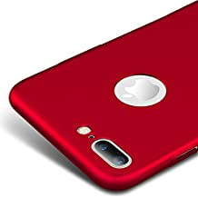 Rojo / RED Ultra-delgado Funda Case Cover y Protector de Pantalla Para Apple iPhone 7 Plus 5.5 pulgadas Vooway® MS70342