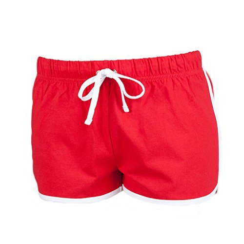 SF Mini Kids Retro Shorts - Red/ White - 910