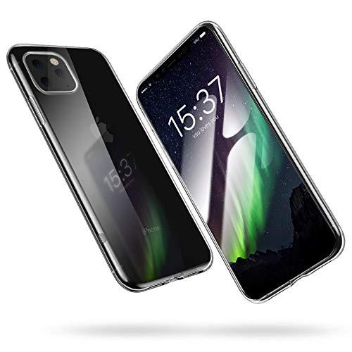 vau Hülle passend für iPhone 11 Pro - SoftGrip Case Silikon Handyhülle dünn durchsichtig transparent (Clear) weich flexibel (kompatibel mit Apple iPhone 11 XI Pro 5.8 OLED 2019)