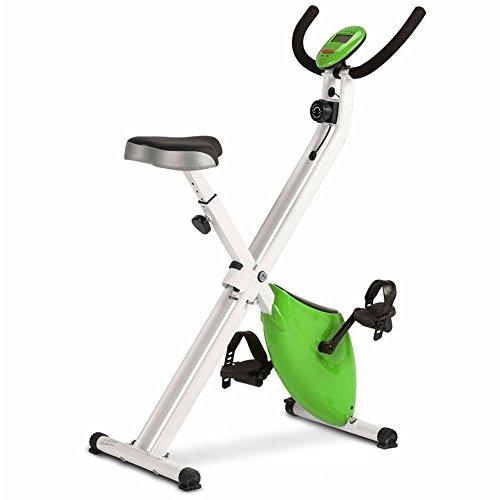 Bicicleta Estática Plegable Magnética, con Pulsómetro y Pantalla LCD, Resistencia Variable y Pedales...