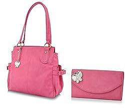 Butterflies Women's Handbag (Pink) (BNS MJ001)