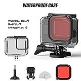 Motto.H - Custodia di Protezione Subacquea Impermeabile per GoPro Hero 8, Kit di Accessori Compatibile con Le telecamere di Azione per la Fotografia Subacquea