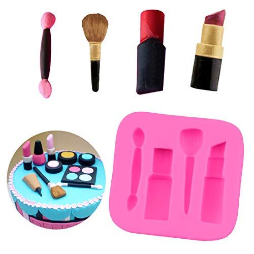 Silikonform 1 STÜCK Backform Kuchen Dekorieren Make-up Lippenstift Nagellack Schokolade Seifenform...