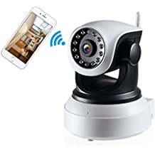 NexGadget IP Cámara HD WiFi de Vigilancia Interior Detección Movimiento Visión Nocturna P2P Compatible con iOS y Android
