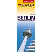 Berlin Stadtplan - Mitte, Friedrichshain, Kreuzberg, Neukölln: Cool City Map 1:12000 - Bars, Clubs, Top-Highlights