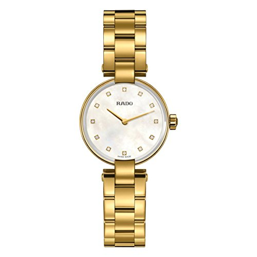 Rado Women's Coupole Diamond 36mm Gold Plated Bracelet Quartz Watch R22857923
