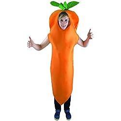 P 'tit payaso–15376–Disfraz adulto zanahoria–Talla única
