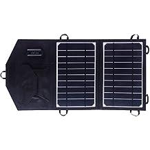 SUNKINGDOM 8W Cargador solar portátil con tecnología PowermaxIQ Cargador de panel solar para iPhone, Samsung, Blackberry, iPod y todos los demás dispositivos USB