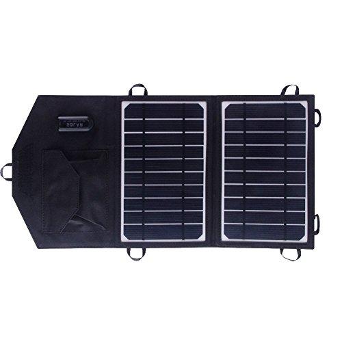 SUNKINGDOM 8W 5V USB faltbar Solar Ladegerät Charger mit PowermaxIQ Technologie für iPhone iPad iPod Samsung Galaxy Blackberry Android und mehr