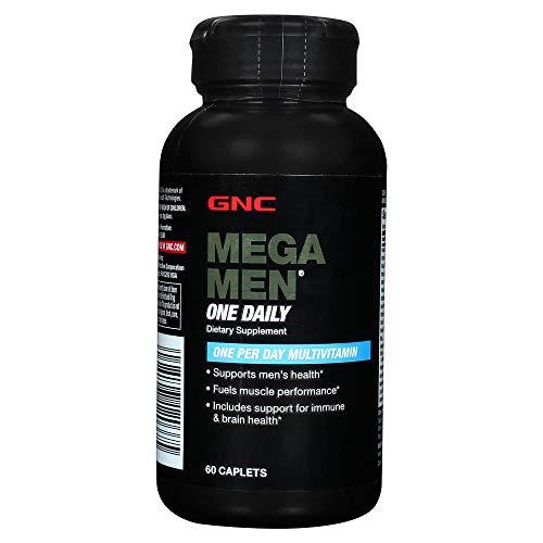 GNC Mega Men One Daily Multivitamin - One Per Day (60 Caplets)