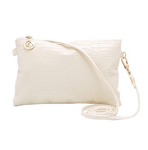 Dairyshop Sacchetto di Crossbody del messaggero del Tote della spalla borsa signora Satchel delle nuove donne di modo (bianco) beige