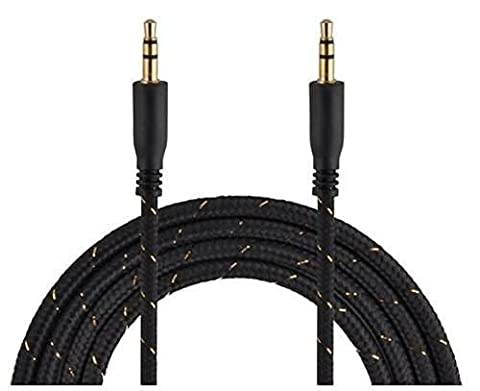 C63® Car Stereo Auxiliary 3.5mm Male to Male (Aux-in) Hi-Speed Extra Long (3.3 Feet/1 m) Fabric Braided Input Cable