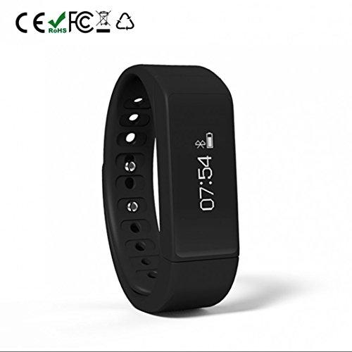 Fitness Tracker Herzfrequenzmessung smart bracelet Leben wasserdicht Romte Capture Schlaftracker Sitzender Alarm mit Distanz Datum und Uhrzeit Aktivitätstracker für Android und IOS