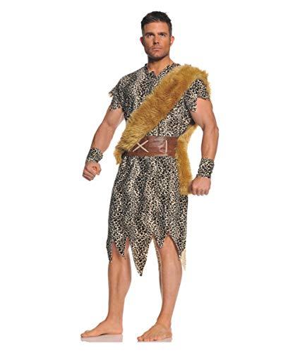 Caveman Kostüm Für Erwachsene - Caveman Höhlenmensch Herrenkostüm aus der Steinzeit