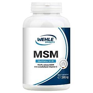 MSM 365 vegane Tabletten (6 Monate) – Extra hochdosiert: 2000mg Methylsulfonylmethan (MSM) Schwefel-Pulver Tagesdosis – Plus natürliches Vitamin C (Acerola) z.B. für Gelenke* I Laborgeprüft