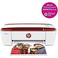 HP Deskjet 3733 Imprimante Multifonction Jet d'encre Couleur (8 ppm, 4800 x 1200 PPP, Mode Silencieux, WiFi, Impression Mobile, USB) - 3 mois d'Instant Ink Gratuits