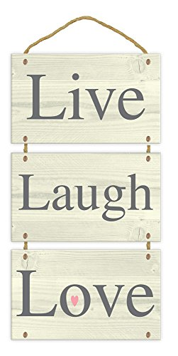 Anker-Live Laugh Love Holzschild Wandschild