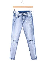 e049040ba7 Abbino CG008 Jeans Pantalones para Mujer - 1 Colore - Moda Sale Casuale  Moderno Elástico Classico Transición Primavera Verano…