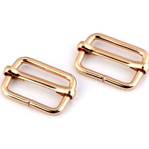 BIG-SAM 10 Verkürzer (Regulator)   13x20mm   Silberfarben, Goldfarben Oder Altmessing   10, 20, 50 Oder 100 Stück im Sparpack   Ideal für Lederbänder (Gold, 20)