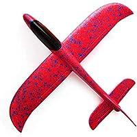 TrifyCore Planeadores de Aviones Que vuelan Lanzamiento Burbuja planeadores Volando Juguetes de inercia Manual de Vuelo de la aeronave Son de Color Rojo para los niños