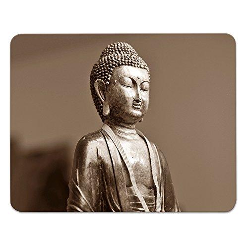 Buddha Meditieren (Addies Mousepad BUDDHA, schönes Mauspad Motiv in feiner Cellophan Geschenk-Verpackung mit Kautschuk Untermaterial, 240x190mm Meditieren)