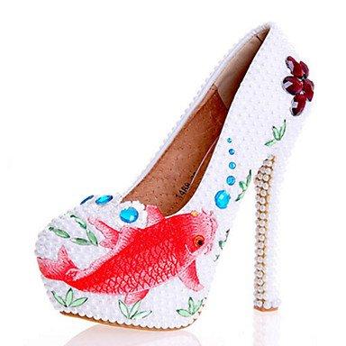 Zormey Frauen Heels Fr¨¹hling Sommer Herbst Komfort Neuheit Lackleder Hochzeit Party & Amp Abendkleid Stiletto Heel Crystal Imitation Pearl US9.5-10 / EU41 / UK7.5-8 / CN42