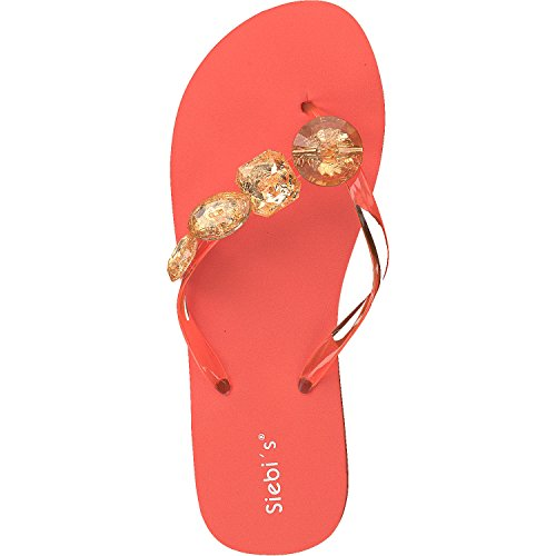 Siebi's MIAMI à la mode Tongs de piscine Flips Femmes Orange