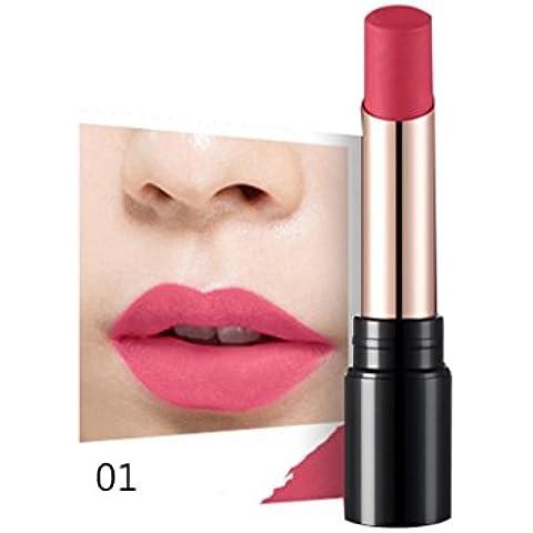 Fortan Sexy idratante Long Lasting impermeabile rossetto opaco trucco Glossy Lip Gloss - A