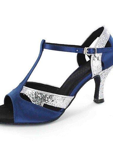 ShangYi Chaussures de danse(Noir / Bleu / Vert / Rouge / Gris) -Personnalisables-Talon Personnalisé-Similicuir-Latine Green