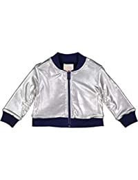Masala Baby Little Girl's Metallic Bomber Jacket