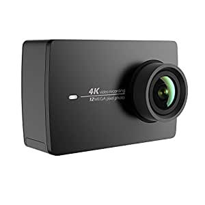 YI 4K Sports Action Camera 12MP Ultra HD Camcorder with Wide Angle Lens 2.19 Inch Touch Screen Voice Control (Black)