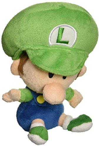 Sanei Offiziell lizenzierte Super Mario Plüsch 12,7cm Baby Luigi (Lizenzierte Star Offiziell)
