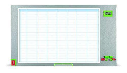 Nobo 1902236 Planungstafel Performance Plus, Wochenplanung, 103.5 x 60 cm, 1 Stück