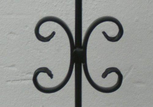 Hoftor Gartentor Einfahrtstor Bogentor schwarz Breite 100cm x Höhe 150cm
