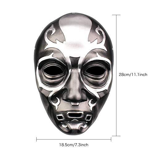 AMY-ZW Film Schädel Maske - Halloween Maske - Cosplay Kostüm Maske - Party Rave Maske - Erwachsene Und Kinder (Size : 28X18.5CM) (Promi Kostüm Vampir)