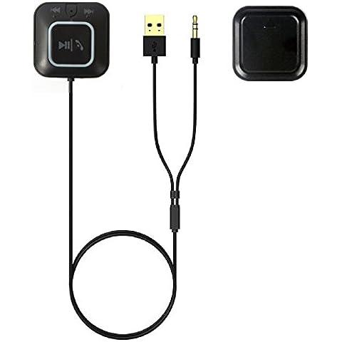 Inalámbrico Bluetooth receptor, Koiiko zf-850NFC Bluetooth 4.0+ EDR NFC CVC 6.0AUX 3,5mm Música Adaptador Conexión multipunto manos libres coche kit con micrófono para sistemas de coche y sistema de audio en casa
