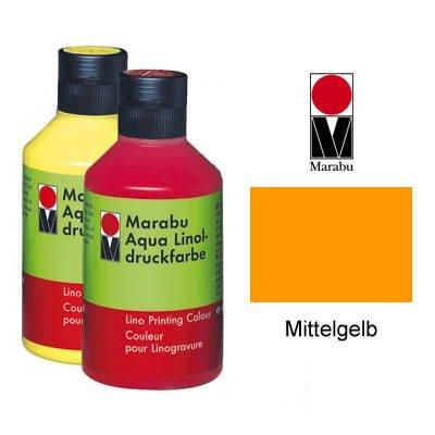 Marabu Aqua-Linoldruckfarbe, mittelgelb, 250 ml VE = 1