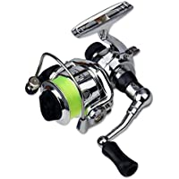 MachinYeser Mini XM100 Carrete de Pesca Acero Inoxidable Cebo de fundición Carretes de Pesca Aparejos de Pesca Accesorios de Plata y Negro