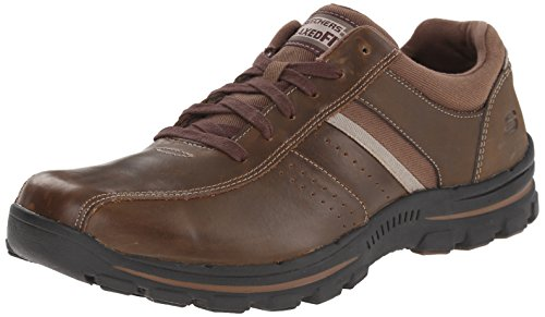 Skechers Braver - Alfano, Men's Low-Top Sneakers, Brown (Acdb - Brown), 11...