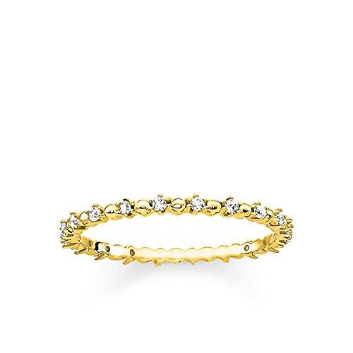 ng Dots mit weißen Steinen 925er Sterlingsilber; 750er Gelbgold Vergoldung TR2153-414-14 ()