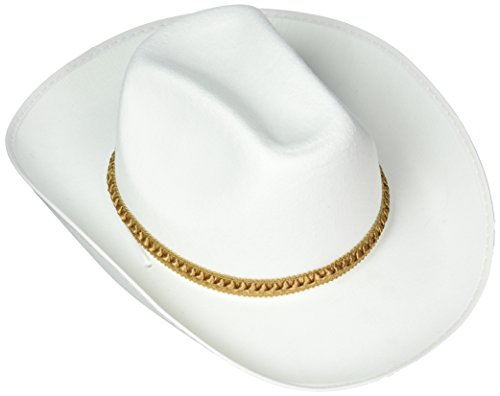 Forum Kostüm Cowboy - FORUM Weiß Western Cowboy Erwachsene Kostüm Filz Hat