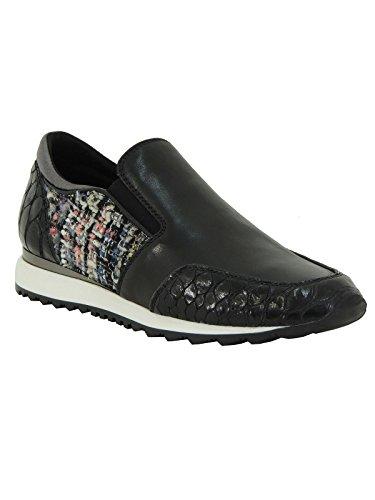 Scarpa donna Tosca Blu sneaker in pelle da infilare SF1511S208 nero 41